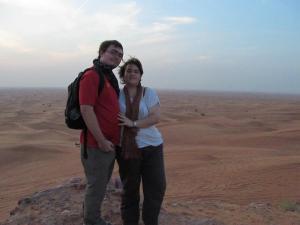 Me and my husband, Mark in the UAE